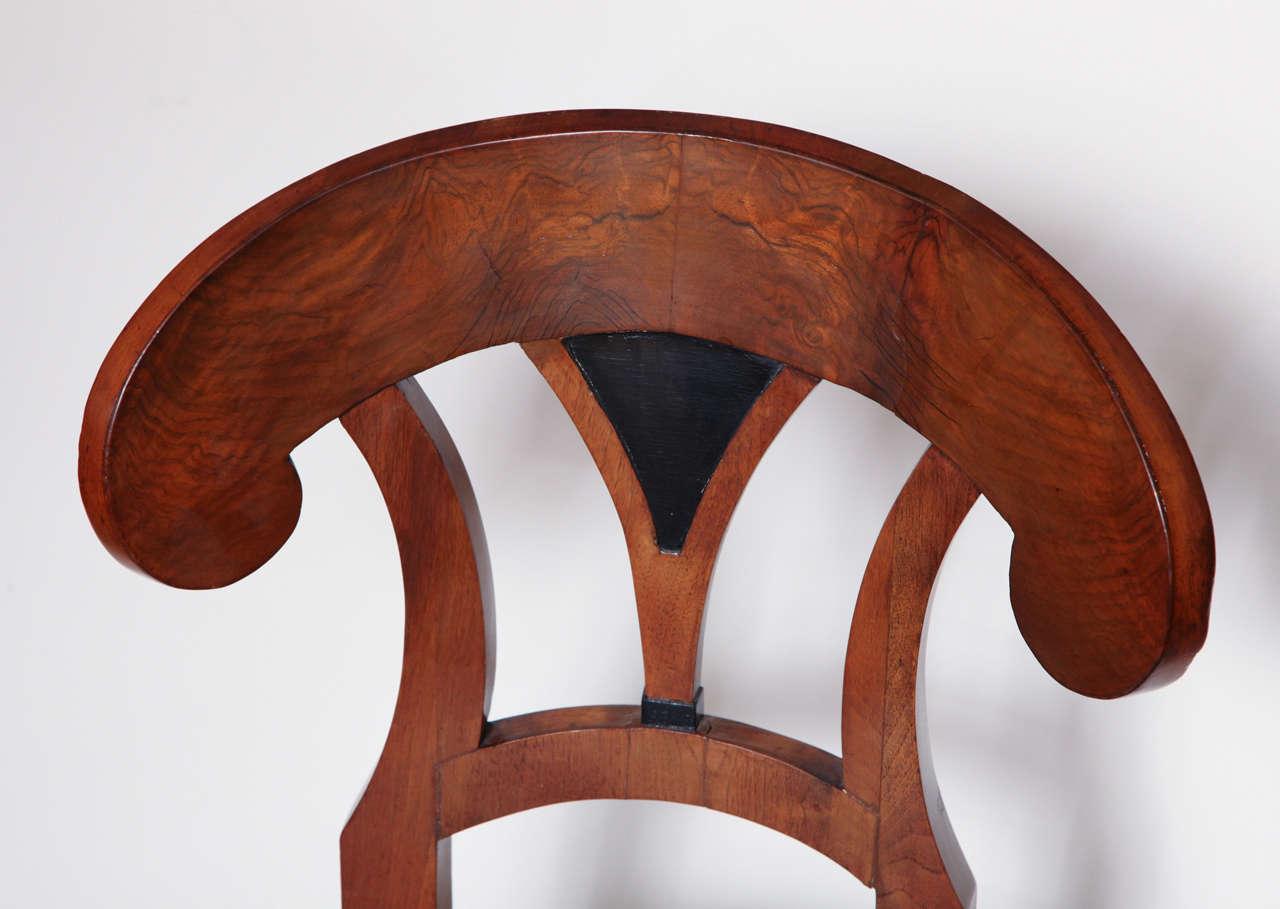 Early 19th Century Biedermeier, Walnut Side Chair For Sale 2