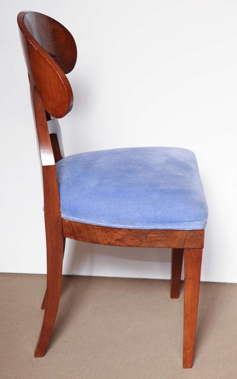 Early 19th Century Biedermeier, Walnut Side Chair For Sale 3