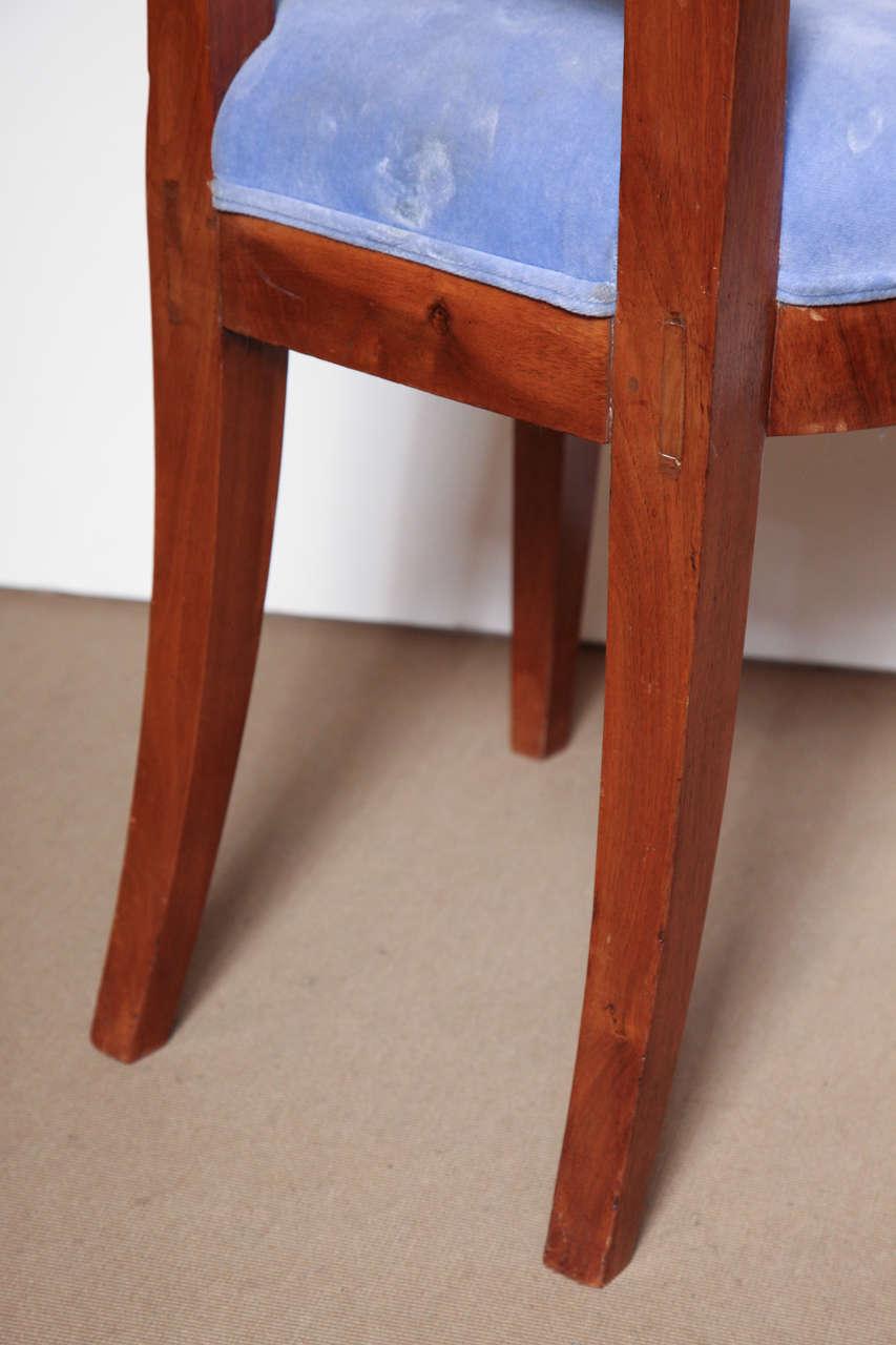 Early 19th Century Biedermeier, Walnut Side Chair For Sale 6