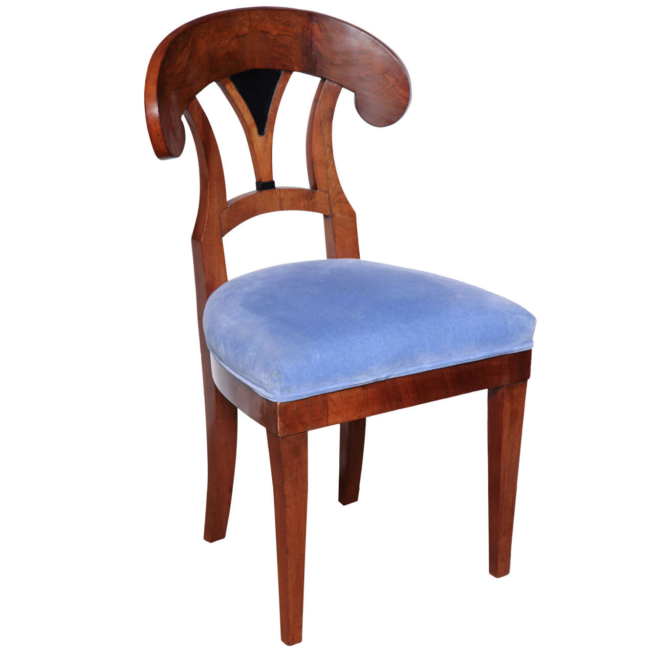 Early 19th Century Biedermeier, Walnut Side Chair