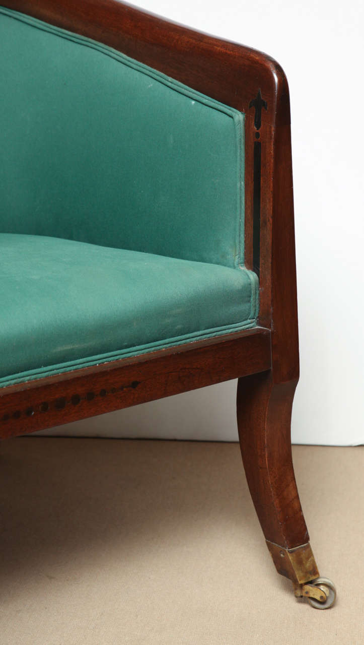 Mahogany Superb Pair of Early 19th Century English Armchairs For Sale