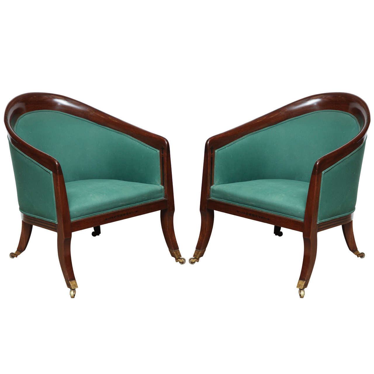 Superb Pair of Early 19th Century English Armchairs For Sale