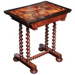 19th Century Maltese, Specimen Wood Table