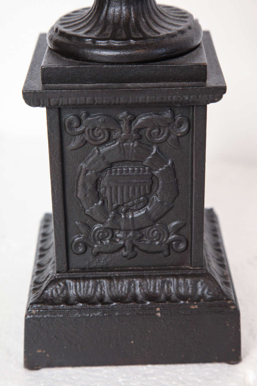 Pair of 19th Century Iron Neo-Classical Urns For Sale 3