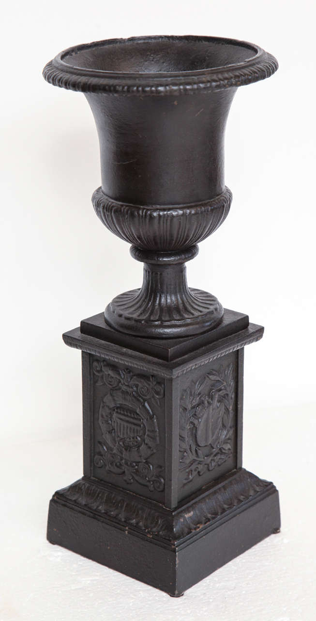 Pair of 19th Century Iron Neo-Classical Urns For Sale 6