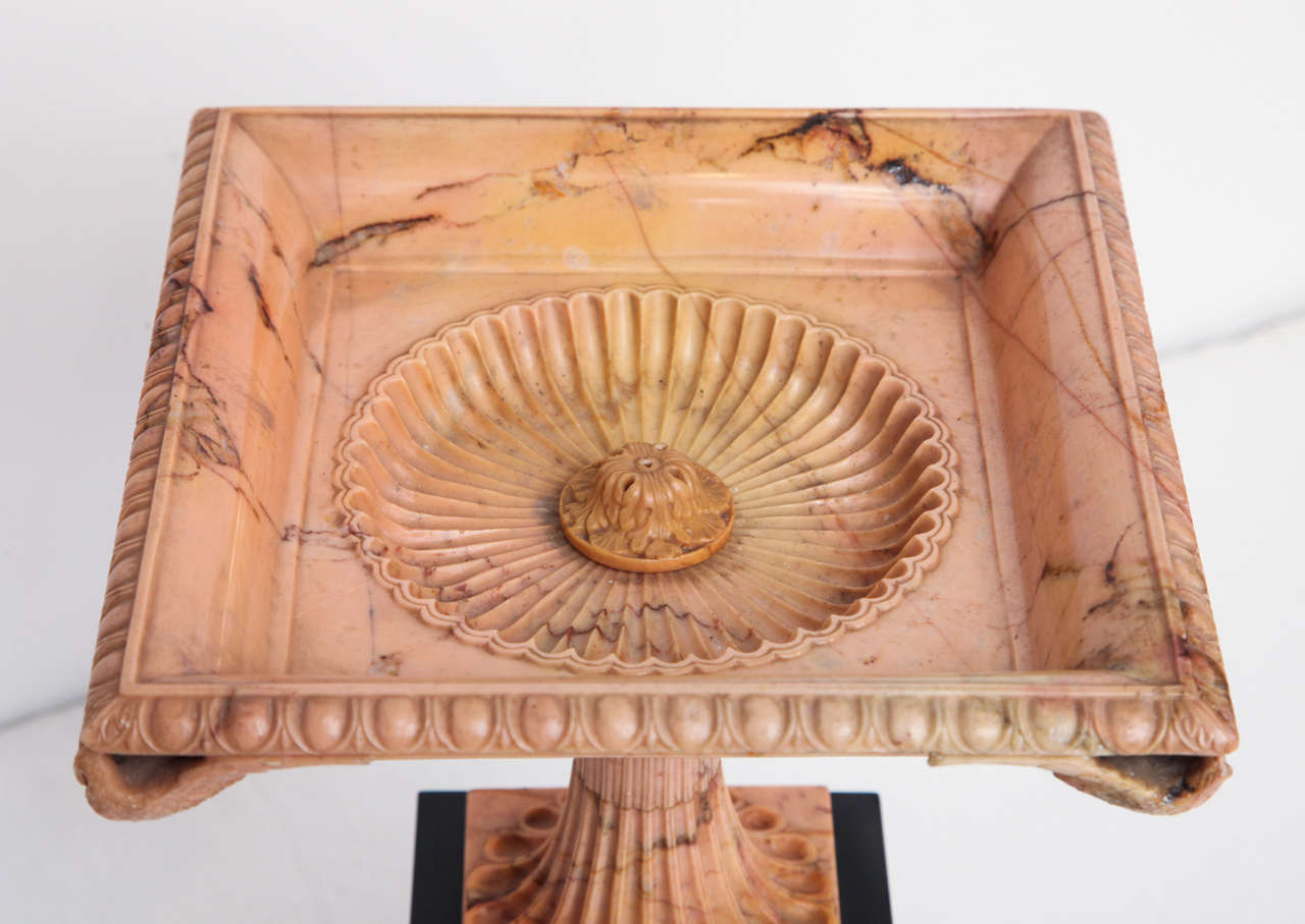 Siena Marble A Superb Sienna Marble 19th Century Tazza on a Marble Plinth For Sale