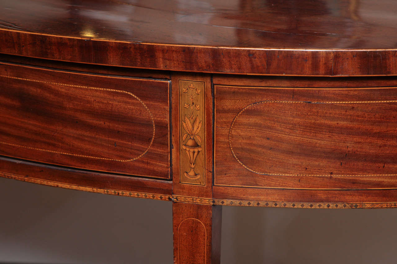 Eighteenth Century English Demi Lune Serving Table Circa 1780 In Excellent Condition For Sale In New York, NY