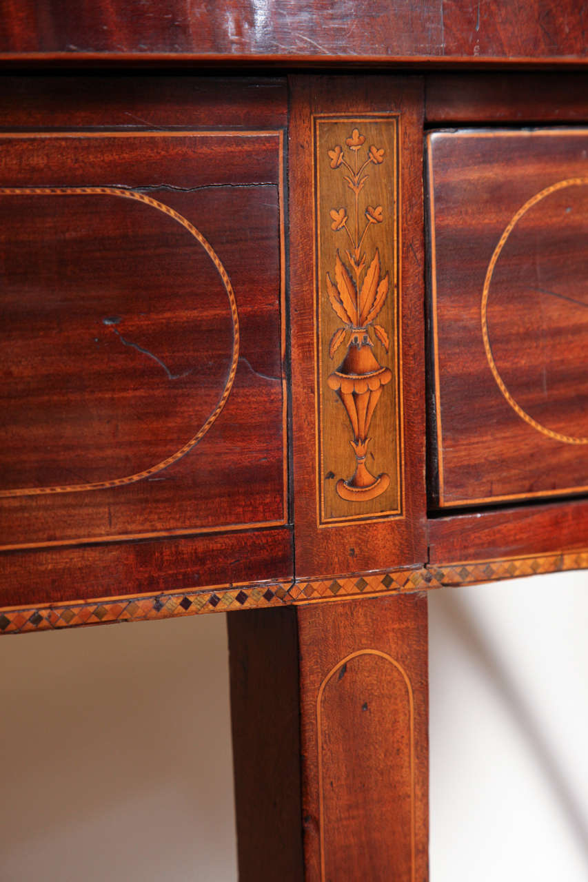 Eighteenth Century English Demi Lune Serving Table Circa 1780 For Sale 1