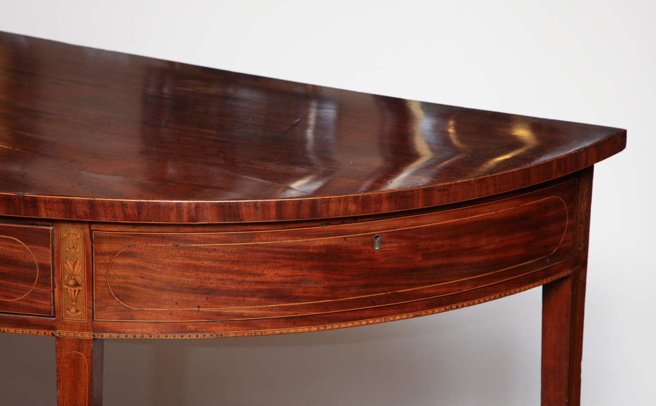 Eighteenth Century English Demi Lune Serving Table Circa 1780 For Sale 5