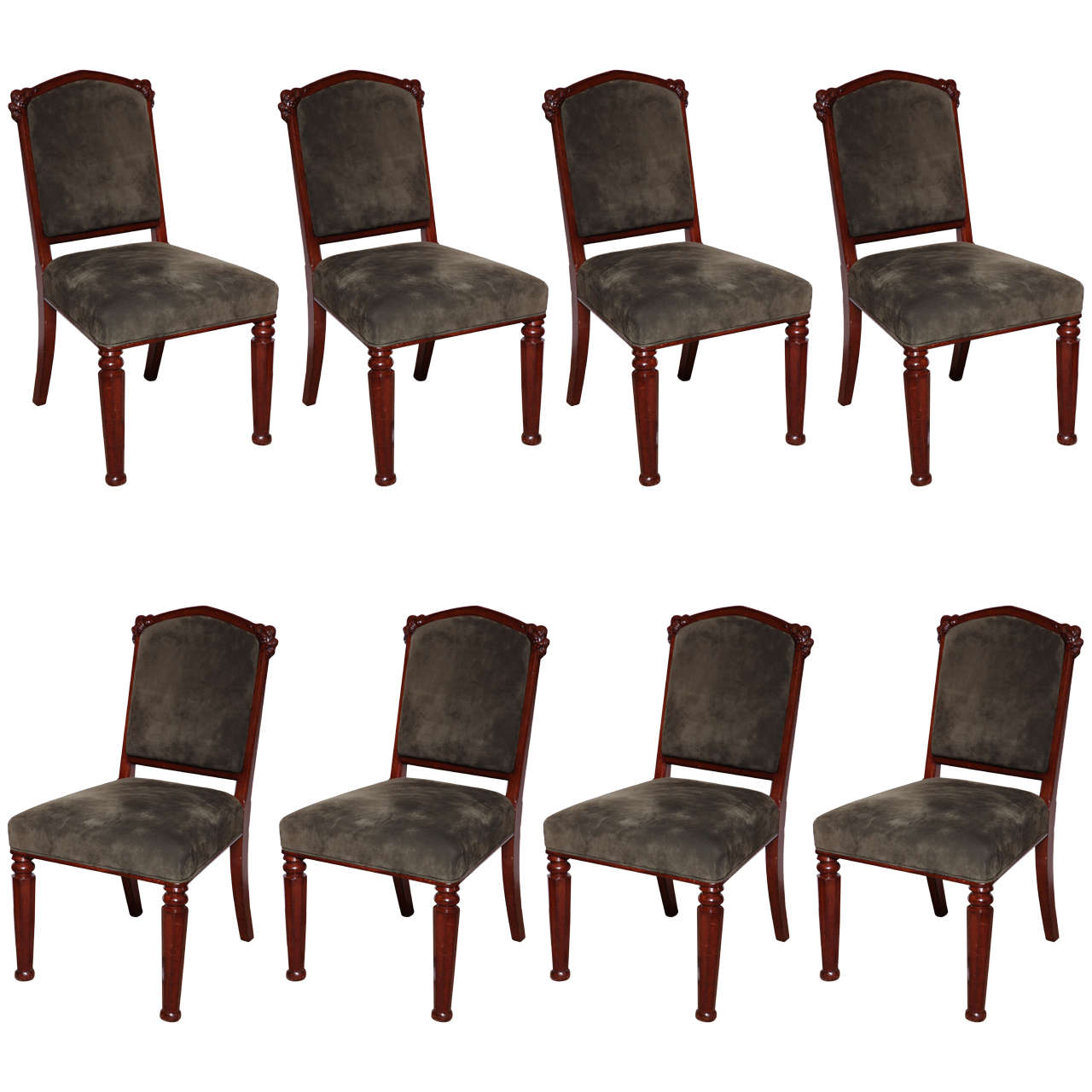 Set or Eight 19th Century English Chairs in The Gothic Taste
