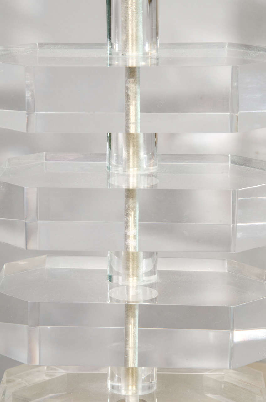 Pair of 1970s Lucite Lamps 4