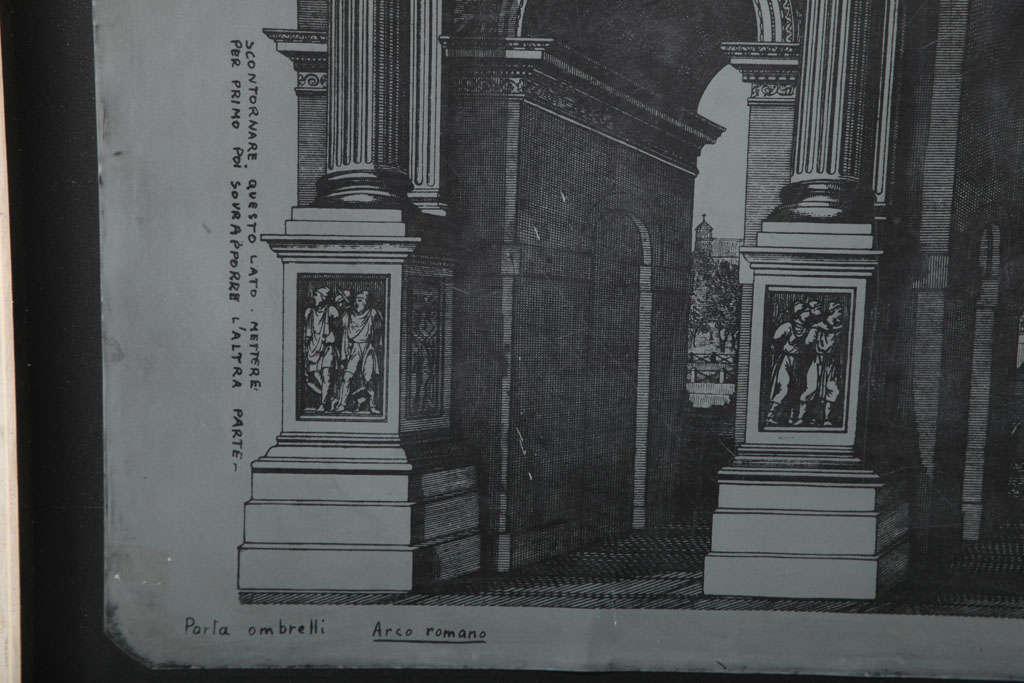 Original Fornasetti Zinc Lithograph Plate of Arco Romano 3