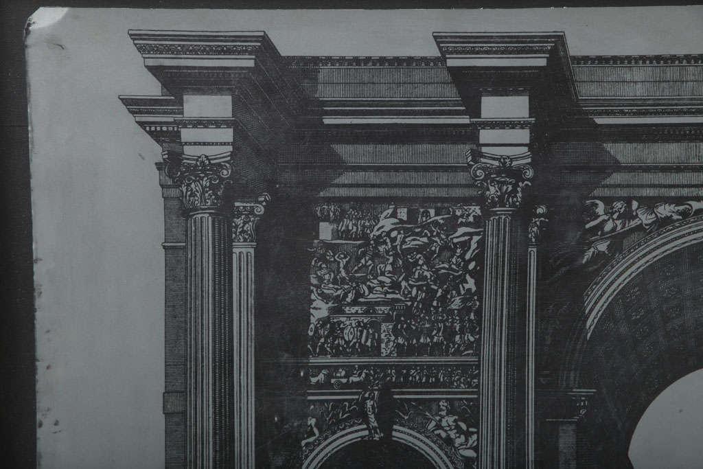 Original Fornasetti Zinc Lithograph Plate of Arco Romano 4