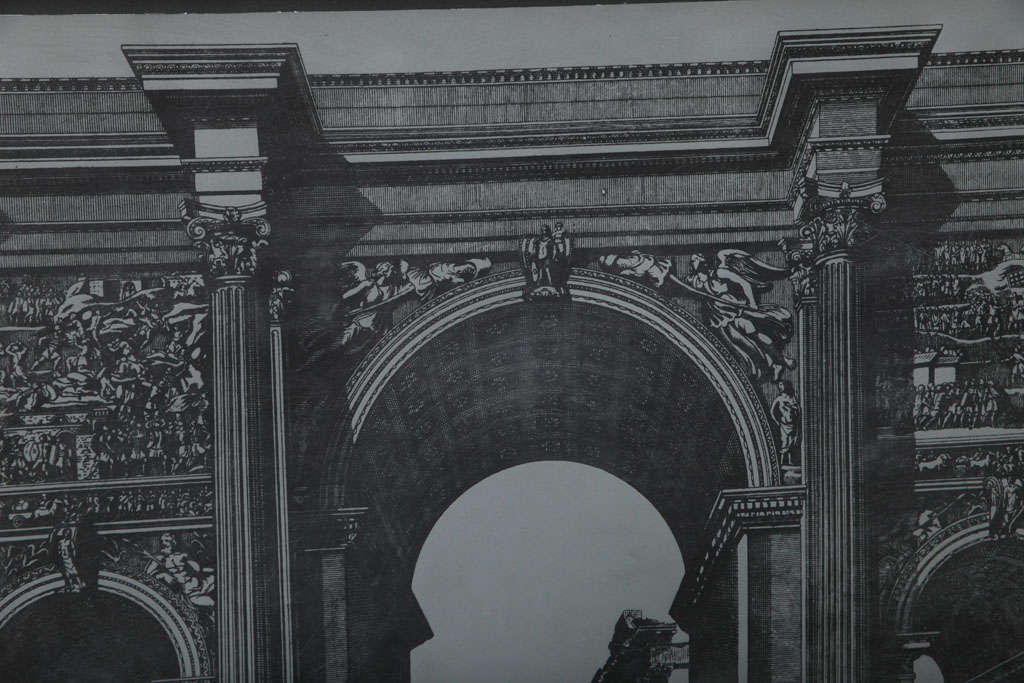 Original Fornasetti Zinc Lithograph Plate of Arco Romano 5
