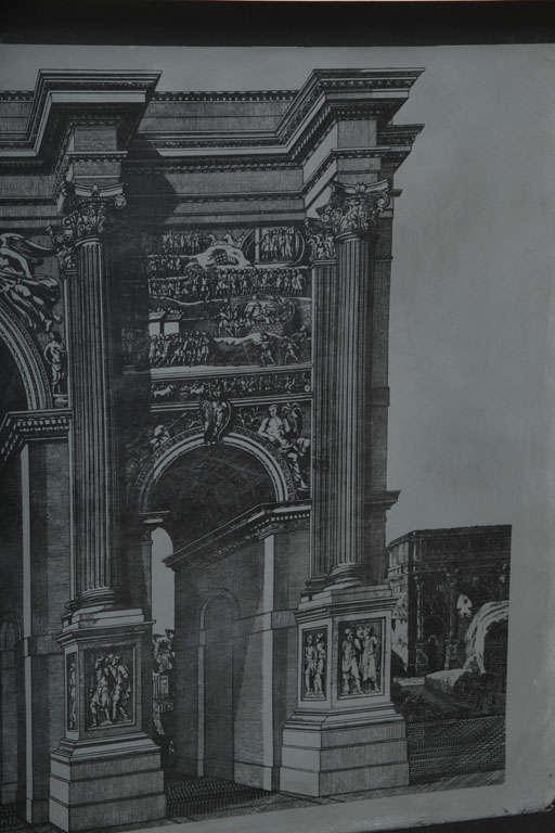 Original Fornasetti Zinc Lithograph Plate of Arco Romano 6