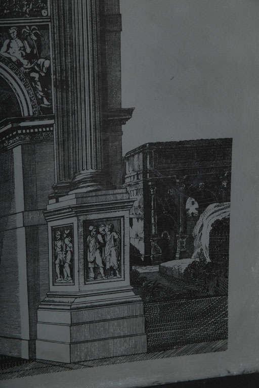 Original Fornasetti Zinc Lithograph Plate of Arco Romano 7