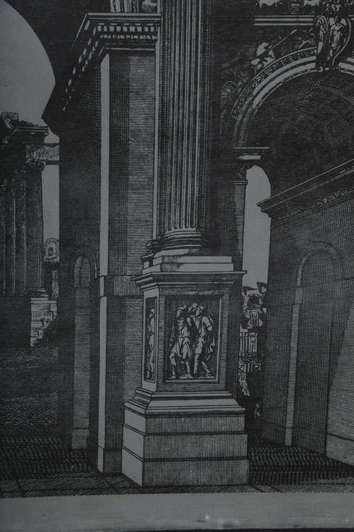 Original Fornasetti Zinc Lithograph Plate of Arco Romano 8