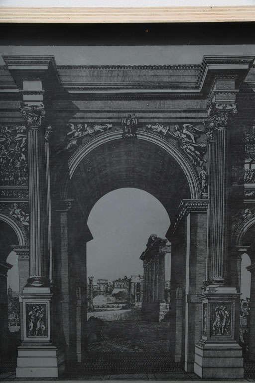 Original Fornasetti Zinc Lithograph Plate of Arco Romano 9