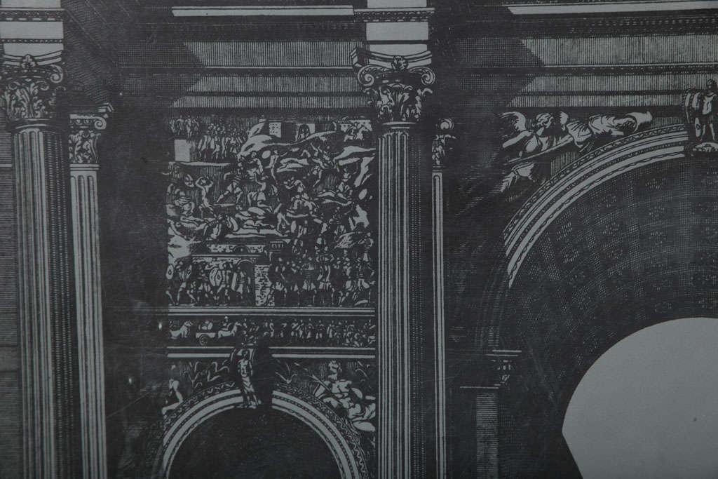 Original Fornasetti Zinc Lithograph Plate of Arco Romano 10