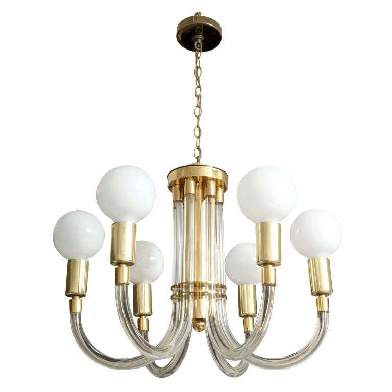 Spectacular Dorothy Thorpe Lucite Chandelier