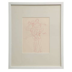 Anthony Quinn Untitled Original Pen and Ink on Paper, 1995