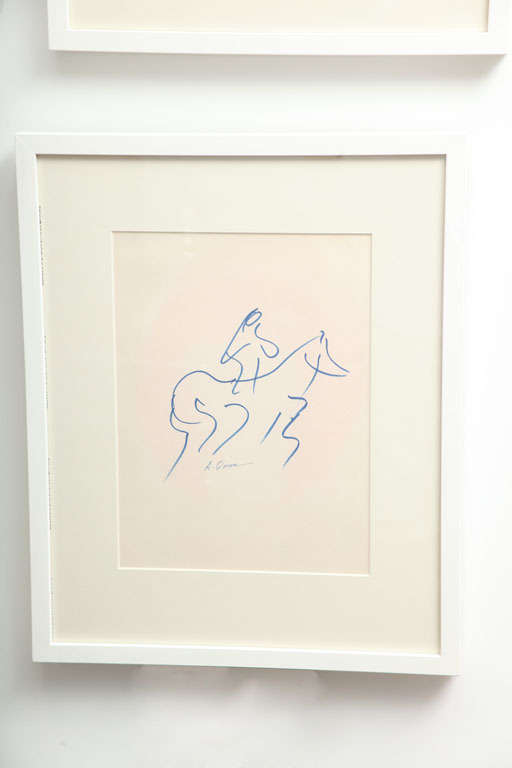 """Untitled"" is part of a curated collection of original pen and inks on paper by Anthony Quinn. These works of fine art are on loan from The Anthony Quinn Trust for sale. Partial proceeds will benefit the Anthony Quinn Foundation, which"