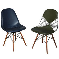 Early Pair of Eames Eiffel Tower Chairs