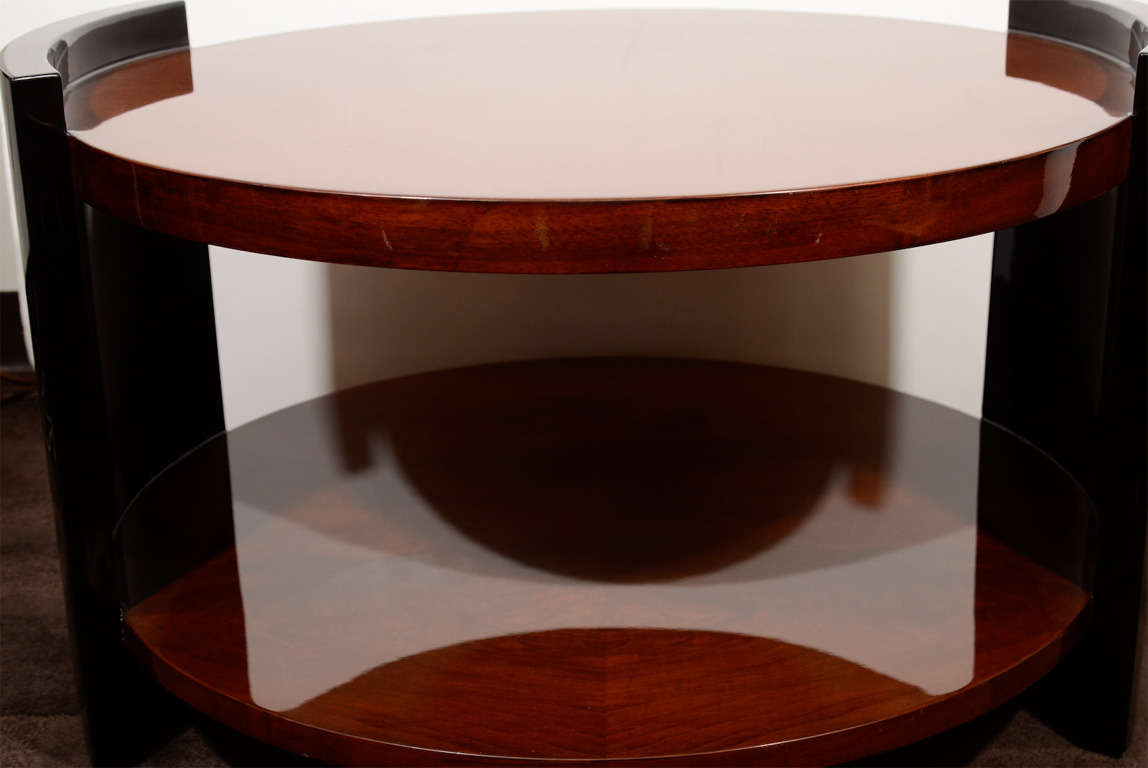1930's Art Deco Two Tier Round Occasional or Cocktail Table 5