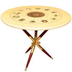Zodiac design side table by Piero Fornasetti
