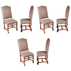 Set of Six Belgian Dining Chairs, circa 1900