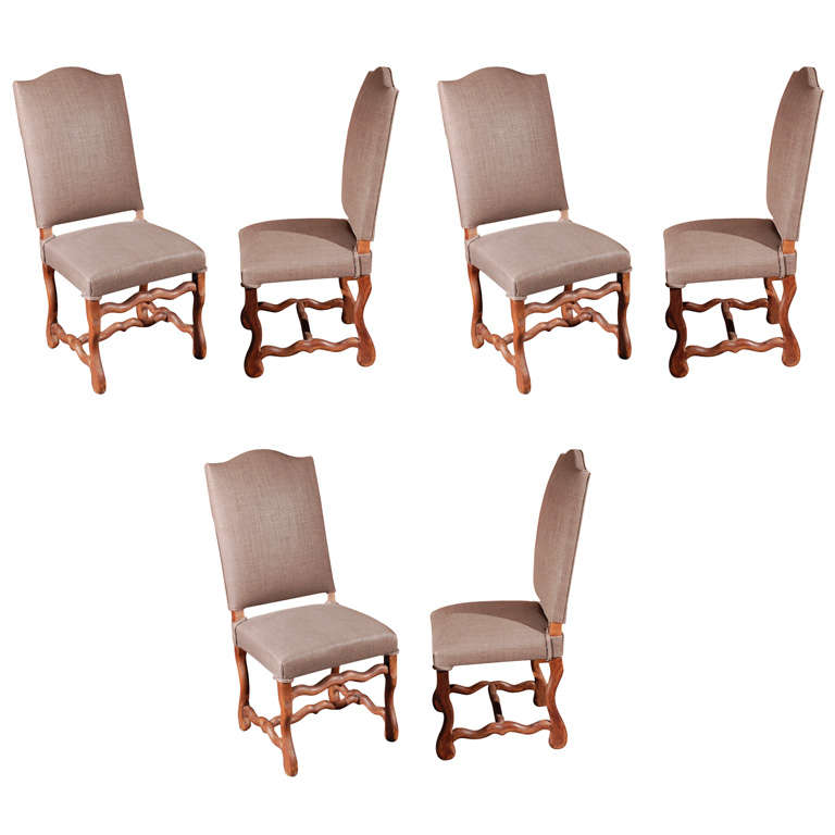Set of Six Belgian Dining Chairs, circa 1900 1