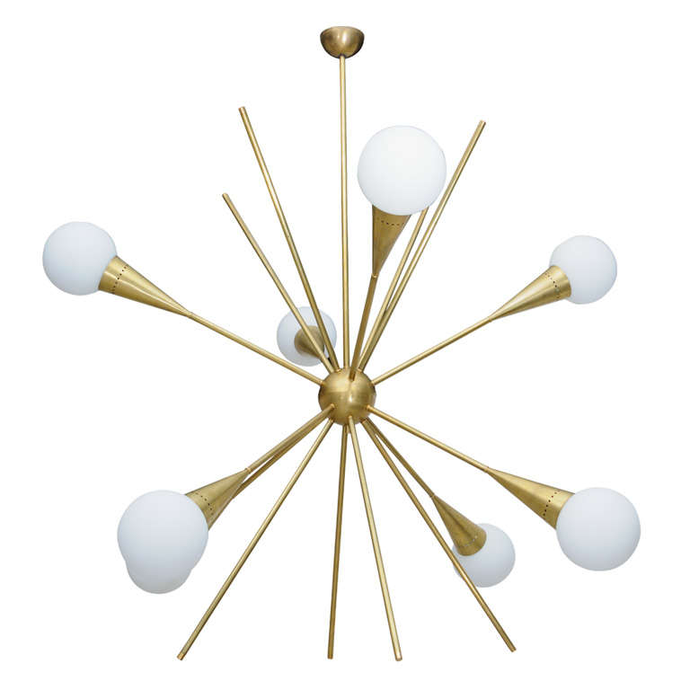 Gigantic Vintage Sputnik Light Fixture Attributed to ...