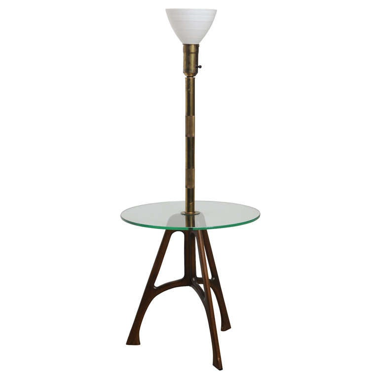 Tray table floor lamp at 1stdibs for Floor lamp with gallery tray