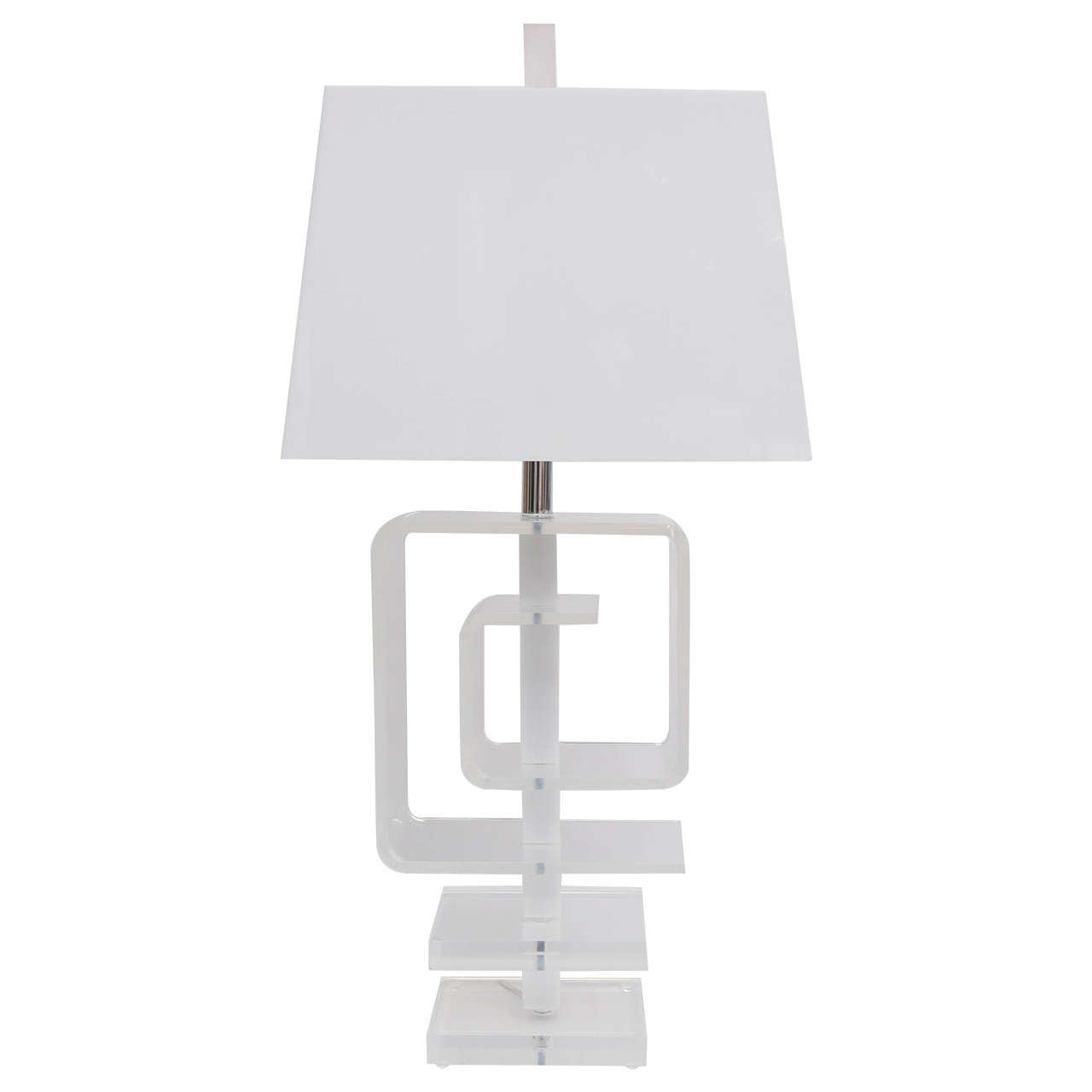Sculptural Lucite Table Lamp