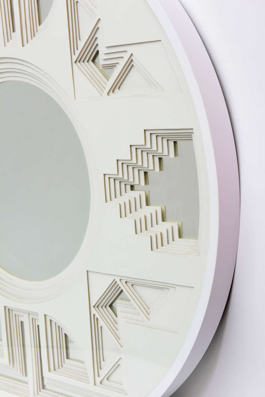 Round Three Dimensional Six Layer Paper Wall Sculpture