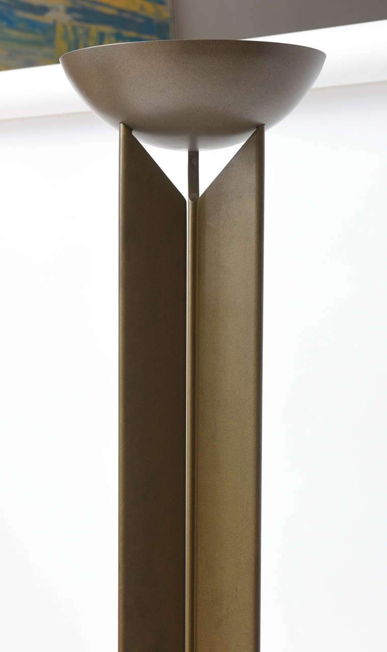 Pair of French Modern Bronzed Metal Torcheres 5