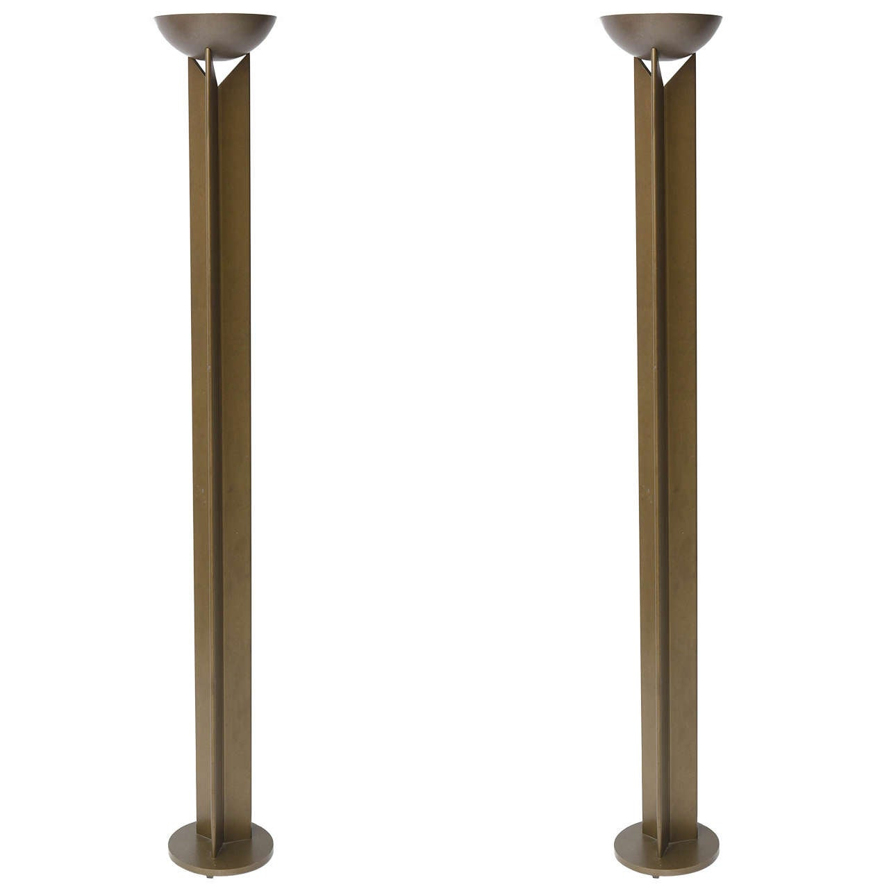 Pair of French Modern Bronzed Metal Torcheres 1