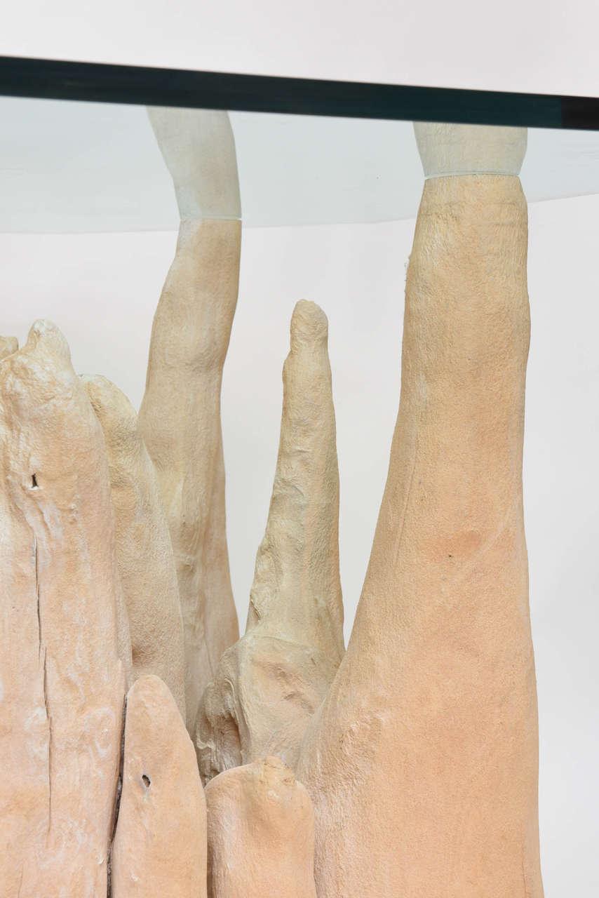 Cypress Knee Table At 1stdibs