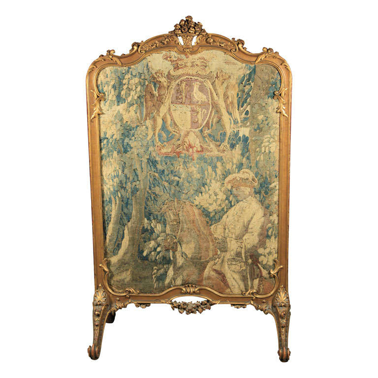 French rococo style fire screen for sale at 1stdibs for French rococo style
