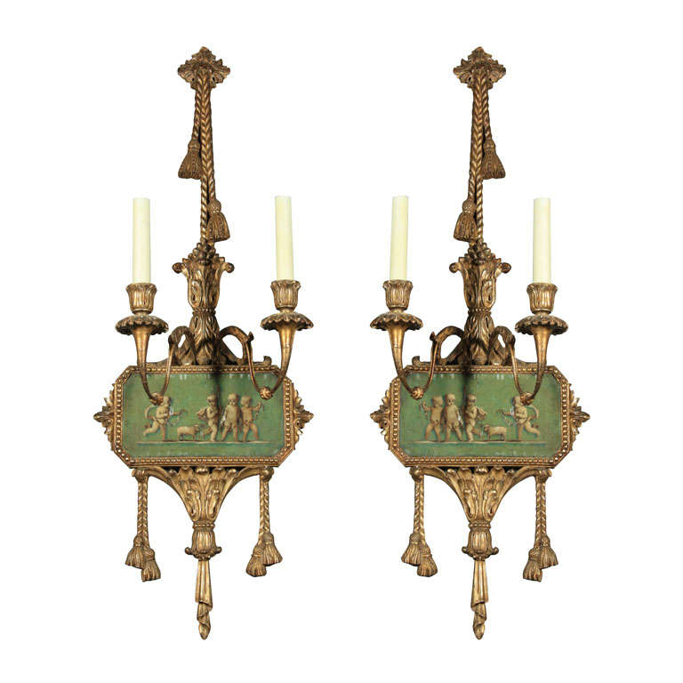 Painted Wall Sconces