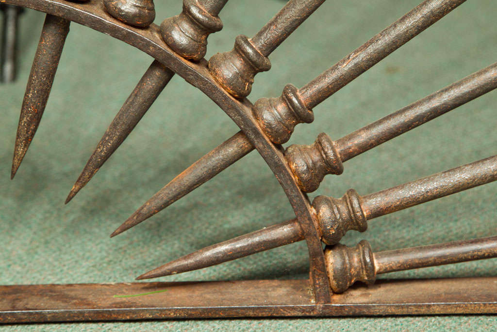 Italian monumental 18th century wrought iron dome shaped element For Sale