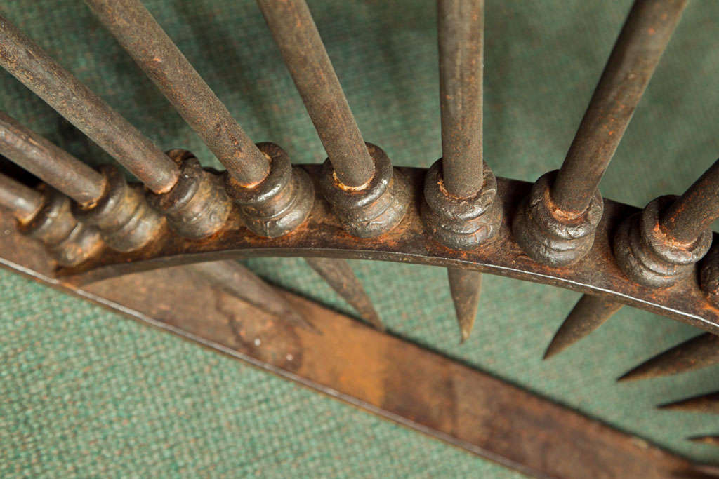 Iron monumental 18th century wrought iron dome shaped element For Sale