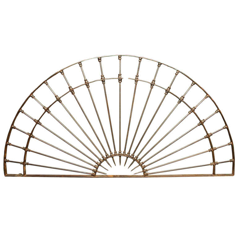 monumental 18th century wrought iron dome shaped element For Sale