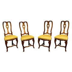Elegant Set of Four Italian Baroque Chairs