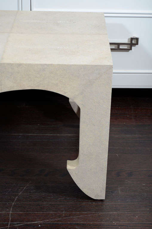 Jean Michel Frank Style Shagreen Cocktail Table For Sale