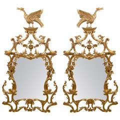 Pair of Rococo Gilt Mirrors