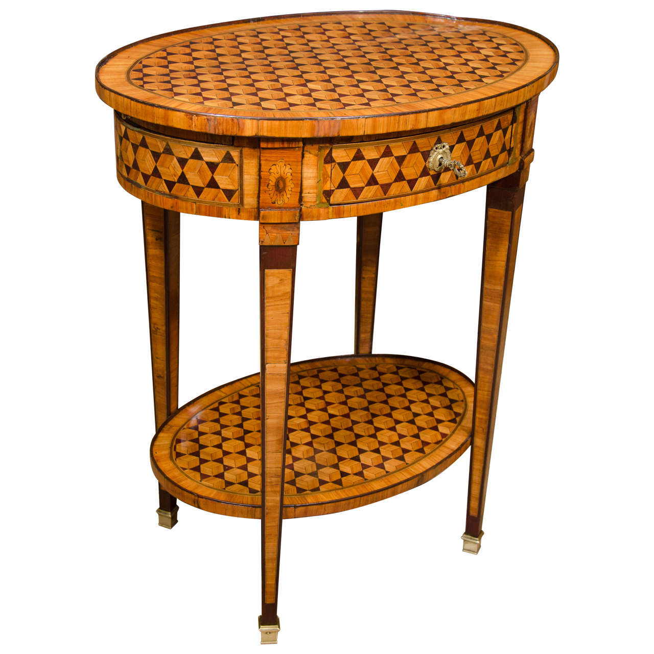 louis xvi parquetry side table at 1stdibs. Black Bedroom Furniture Sets. Home Design Ideas