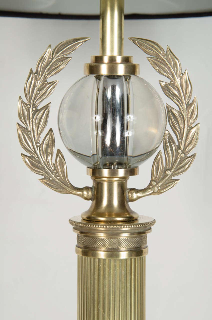Elegant Pair Of Art Deco Laurel Wreath Table Lamps By Grosfeld House