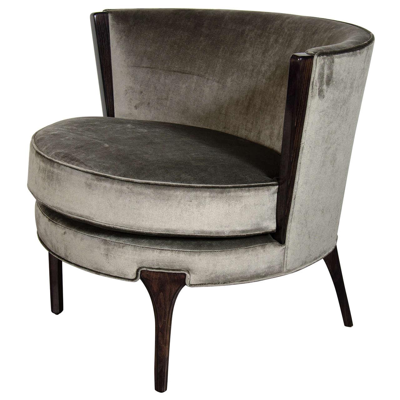 sophisticated midcentury modernist barrel back occasional chair . sophisticated midcentury modernist barrel back occasional chair