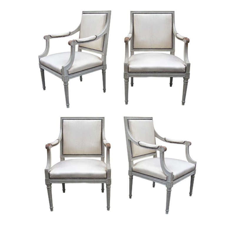 Four 1900s Louis Xvi Style Armchairs At 1stdibs